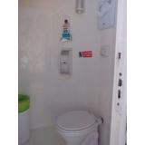 locação de banheiro químico de luxo orçar Prado