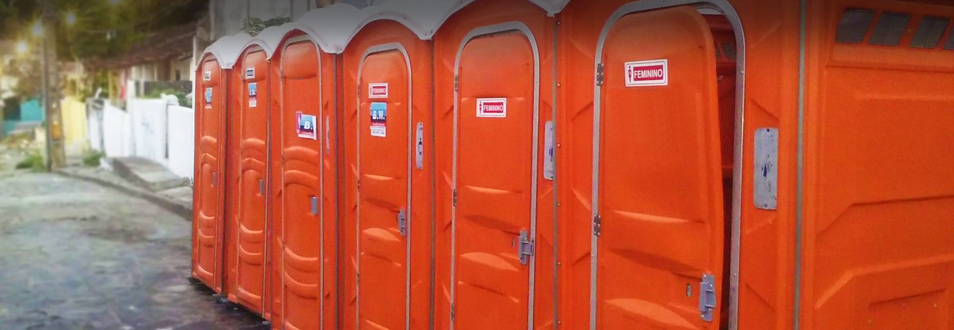 Locação de banheiros químicos, em qualquer lugar